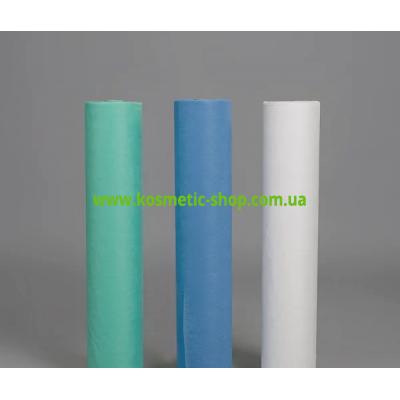 Простирадло одноразове спанбонд РБ 0.6х100м / 20 щільність, колір / білий, блакитний, м'ята /