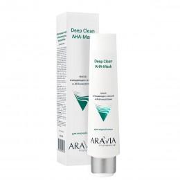 Маска для обличчя очищаюча з глиною і АНА-кислотами Deep Clean AHA-Mask, 100мл, ARAVIA Professional