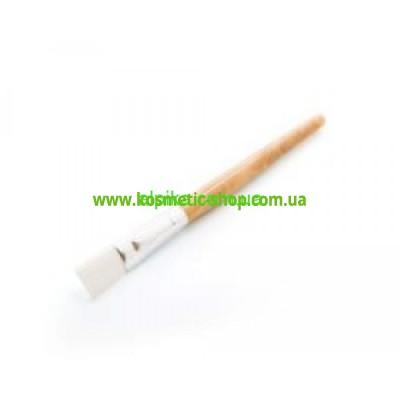 Пензлик косметологічний для масок з дерев'яною ручкой