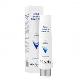 Крем для обличчя активне зволоження Active Hydrating Cream 24H, 100мл, ARAVIA Professional