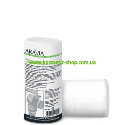 Бандаж тканий для косметичних обгортань, 14 см x 5 м, ARAVIA Organic