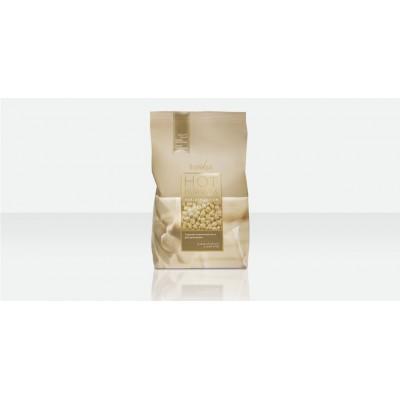 Віск гарячий плівковий в гранулах Білий шоколад 1 кг