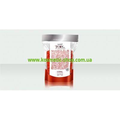 Віск гарячий синтетичний плівковий ТОП формула Корал  750 гр. ItalWax