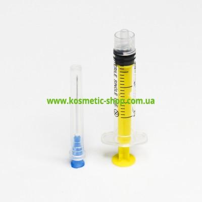 Придбати Шприц 3-х компонентний 2 мл., Luer lock з голкою